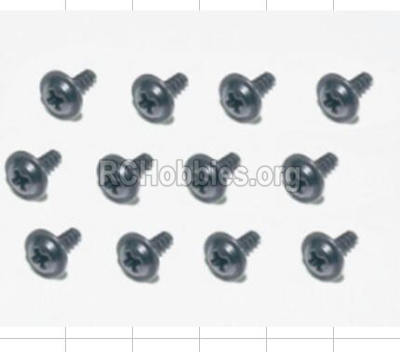 HBX 12885 Iron Hammer Parts-Flange Head Self Tapping Screws(12pcs)-2.3X8mm Parts-S167