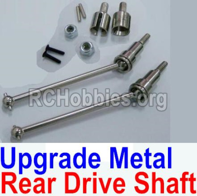 HBX 12891 Parts-Upgrade Metal Rear CVD Shaft & nuts & screws & wheel pins & Metal Differential Cup-(Total For Rear Car) Parts-12711C