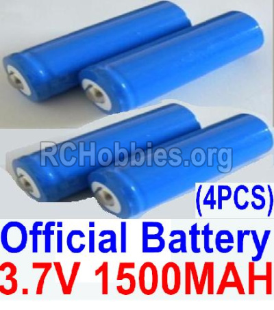 HBX 12891 Parts-Official 3.7V 1500mAH Battery(Li-ion Batteries)-4pcs Parts-12633