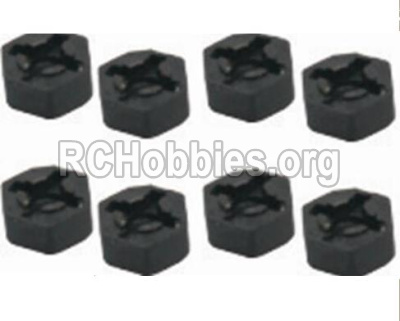 HBX 12891 Dune Thunder Parts-Hexagon Wheel Seat(4pcs) Parts-12010