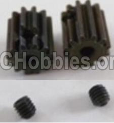HBX 12891 Dune Thunder Parts-Motor Pinion Gears 12T(12 Teeth) & Set Screws-3X3mm(2pcs) Parts-12060
