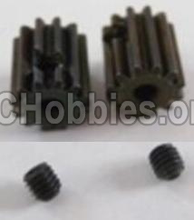 HBX 12891 Dune Thunder Parts-Motor Pinion Gears 13T(13 Teeth)& Set Screws-3X3mm(2pcs) Parts-12026