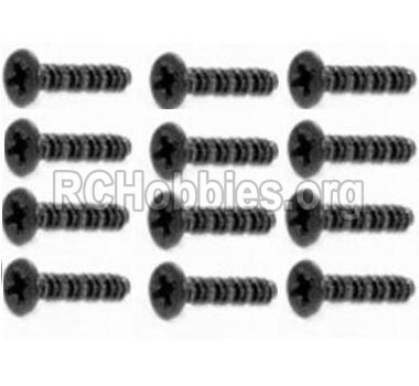 HBX 12891 Dune Thunder Parts-Countersunk Self Tapping Screw 2X15mm(12PCS) Parts-S011