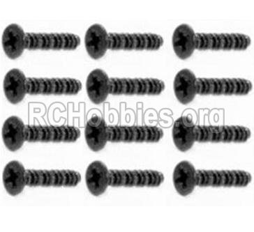 HBX 12891 Dune Thunder Parts-Round Head Self Tapping Screws-2.6X25mm(12PCS) Parts-S201