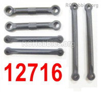 HaiBoXing HBX 12895 Parts-Front Steering Links Rod, 2pcs + Servo Link Rod + Front Linkd, 2PCS. 12716