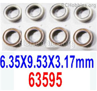 HaiBoXing HBX 12895 Parts-Ball Bearings. The size is 6.35x9.53x3.17mm. 63595