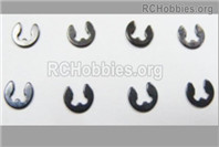 HaiBoXing HBX 12895 Parts-4mm E-Clips, Total 8pcs. H152
