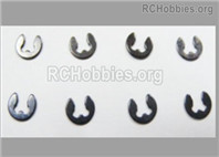 HaiBoXing HBX 12895 Parts-2mm E-Clips, Total 8pcs. H153