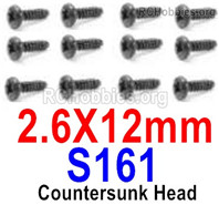 HaiBoXing HBX 12895 Screws Parts-Round Head Screws, PBHO 2.6x12mm. S161