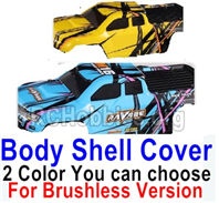 HBX 16889 Body Shell Cover Parts-1pcs-2 Color you can choose(For Brushless Version)