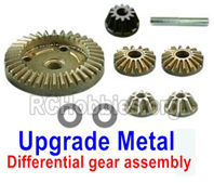 SG 1601 Upgrade Metal Differential Gears+Diff. Pinions+Drive Gear-M16103,HaiBoXing SG 1601A Upgrade Parts