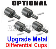 HBX 16889 Upgrade Metal Differential Outdrive Cups + Pins-M16104