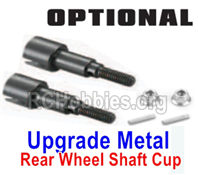 SG 1601 Upgrade Metal Rear Wheel Shafts+Pins+Lock Nut M4-M16107