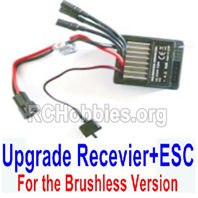 HBX 16889 Upgrade Receiver + ESC Together,Only for the Brushless version-M16110