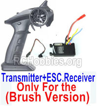 SG 1601 Transmitter,2.4Ghz Radio+ ESC Receiver board (Only for Brush Car)-12670