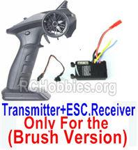SG 1602 Transmitter,2.4Ghz Radio+ ESC Receiver board (Only for Brush Car)-12670