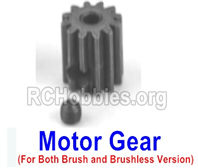 SG 1601 Motor Gear (14T)+Ser Screw-M16035,Both be suit for Brush and Brushless version