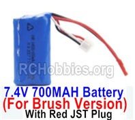 HBX 16889 Battery Pack,7.4v 700mah Li-ion Battery,With Red JSt Plug-M16037