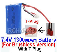 HBX 16889 Battery Parts-7.4V 1300MAH Battery-T Plug-Only for the Brushless Version-M16120T