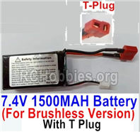 HBX 16889 7.4V 1500mAH 25C LIPO Battery-T Plug,Only for the Brushless version-M16151