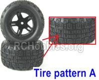 SG 1601 Wheel Complete Parts,Total 2 set-Tire pattern A-M16038