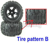 SG 1601 Wheel Complete Parts,Total 2 set-Tire pattern B-M16055