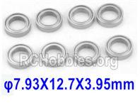 SG 1601 Ball Bearings (7.93X12.7X3.95mm)-793127,Total 8pcs