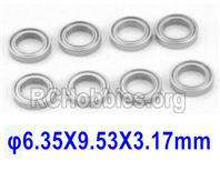 SG 1601 Ball Bearings (6.35X9.53X3.17mm)-635953-8pcs