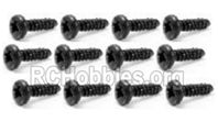 SG 1601 Pan Head Self Tapping Screws PBHO2.6X10mm-S029,Total 12pcs