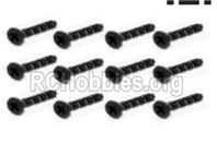 HBX 16889 Countersunk Self Tapping KBHO2.6x12mm-S088,Total 8pcs