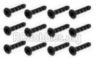 SG 1601 Countersunk Self Tapping KBHO2.3X6mm-S128,Total 12pcs