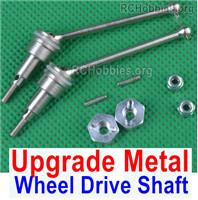 HBX HAILSTORM 18858 Upgrade Metal Wheel Drive Shaft unit Parts.Total 2 set.