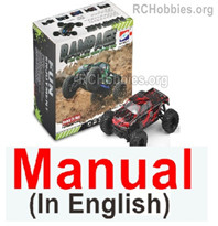 HBX Rampage 18859E Manual Instruction in English for HaiBoxing Rampage 18859E RC Truck.