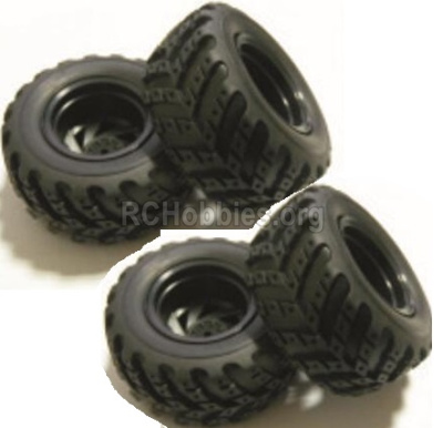 HBX Rampage 18859E Whole wheel unit Parts. (Include Wheel hub and Tire lether)-4 set. 18021