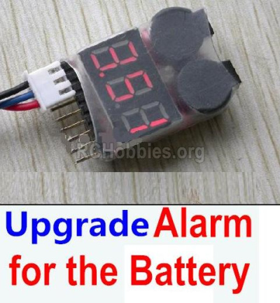 HBX Rampage 18859E Upgrade Alarm Parts for the Battery,It Can test whether your battery has enouth power