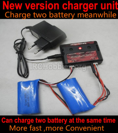 HBX Rampage 18859E Upgrade version charger and Balance charger Parts. It Can charger two battery at the same time(Not include the 2x battery) Parts