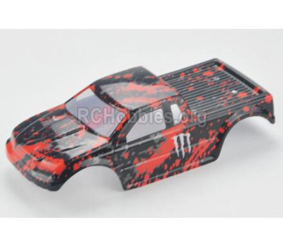 HBX Rampage 18859E Body shell Parts,RC Car shell-Red,18859E-B001