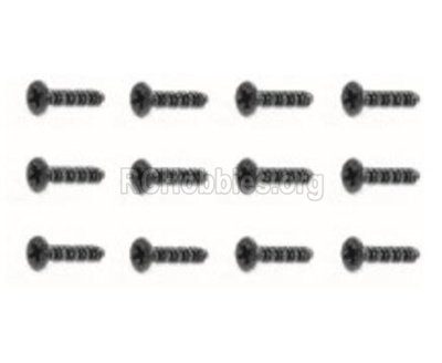 HBX Rampage 18859E 18055 Screws Parts. Countersunk Self Tapping Screw(12pcs)-BHO2X4mm. 18055