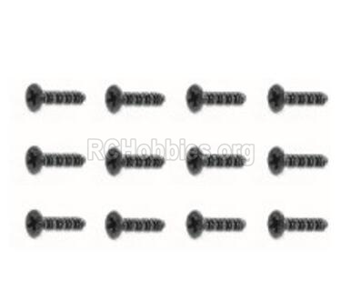 HBX Rampage 18056 Screws Parts. Countersunk Self Tapping Screw(12pcs)-BHO2.3X6mm. 18056