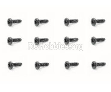 HBX Rampage 18859E 18063 Screws Parts. Pan Head Self Tapping Screw(12PCS)-PMHO1.7x21mm. 18063