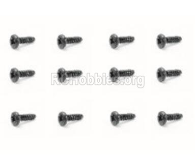 HBX Rampage 18859E 18064 Screws Parts. Pan Head Self Tapping Screw(12PCS)-PMHO2.3x12mm. 18064