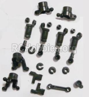 HBX 2118 Parts-anti-Shocks Assembly & Steering Cups & Rear Shaft sleeve Parts-25002R