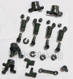 HBX 2128 Wildrider Parts-anti-Shocks Assembly & Steering Cups & Rear Shaft sleeve Parts-25002R