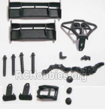 HBX 2128 Wildrider Parts-Tail Wings & Bumpers & Car Body Support column Parts-25003