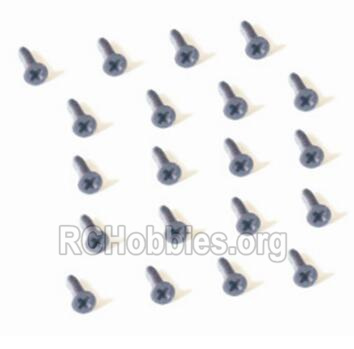 HBX 2128 Wildrider Screw Parts-Countersunk Head Self Tapping Screw-2X9mm(20PCS) Parts-25057