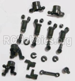 HBX 2138 Fire Runner Parts-anti-Shocks Assembly & Steering Cups & Rear Shaft sleeve Parts-25002R