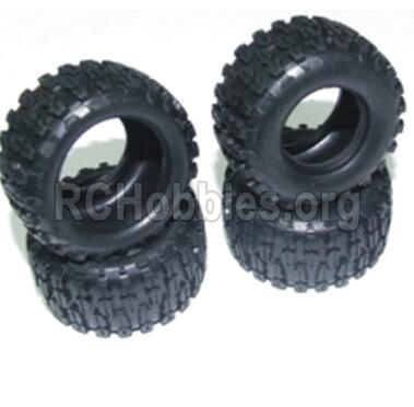 HBX 2138 Fire Runner Parts-Tire lether Parts-Tire lether(4pcs)-Not include the Wheel hub Parts-24030R