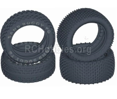 HBX T6 Parts-Front and Rear Tire(Sponge Inserted),tire lether-(4pcs) Parts TS056+TS057