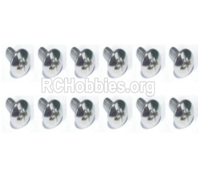 HBX T6 Parts-Cross Recessed Flange Head Self Tapping Screws(PWTH03x10mm)-12pcs Parts TS224