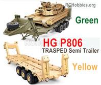 HG P806 TRASPED Semi Trailer,HG P806 1:12 Heavy Equipment Semi Trailer for U.S M747